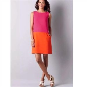Ann Taylor Loft Hot Pink Orange Shift Dress